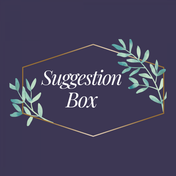 graphic for library suggestion box