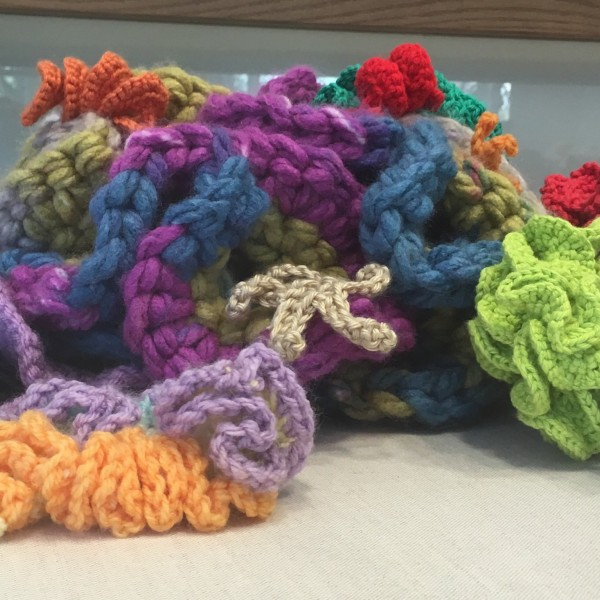 crochet coral reef detail
