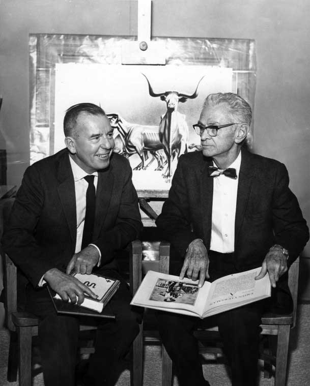 Tom Lea (L) and Carl Hertzog (R), 1967