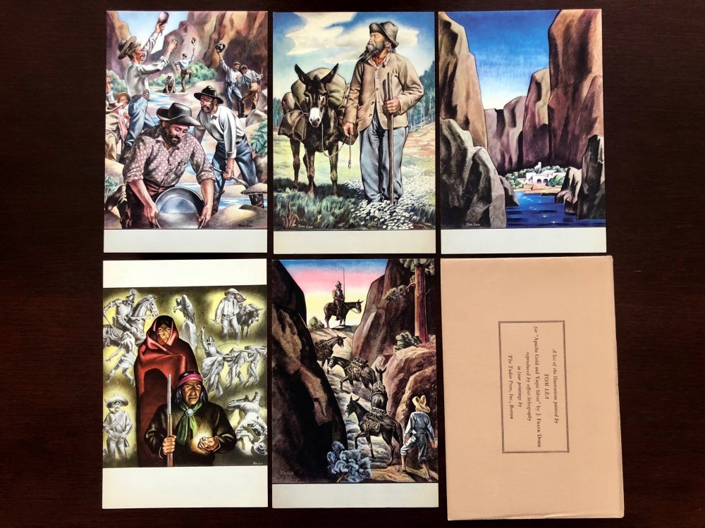 "Tom Lea illustrations for ""Apache Gold and Yaqui Silver"" reproduced with offset lithography"