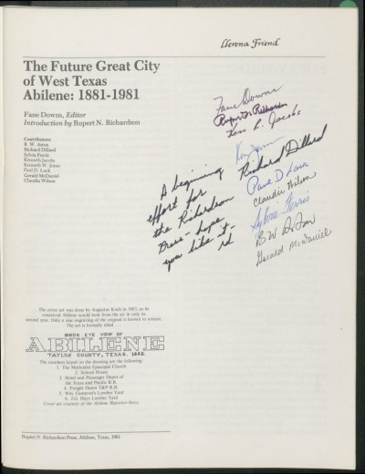 he Future Great City of West Texas Abilene 1981