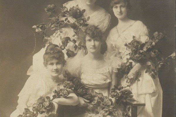 Photograph of a group of ladies taken by Stone Photography Studio. [Date unknown]