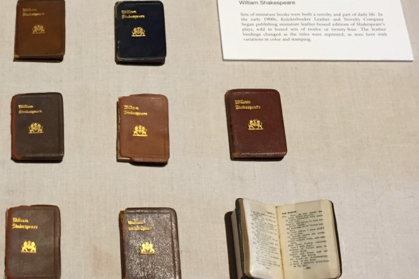 A case from my miniature book exhibit