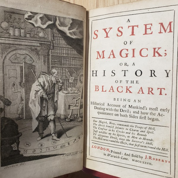 Frontispiece of A System of Magick by Daniel Defoe.