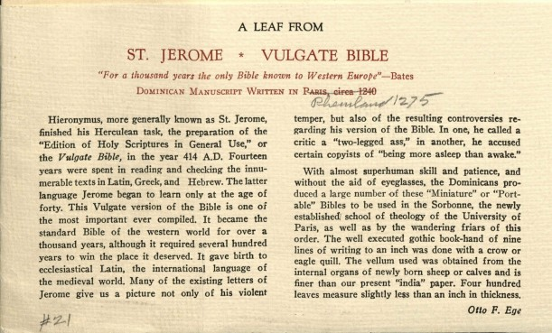 Text explanation of [Vulgate] Leaf.