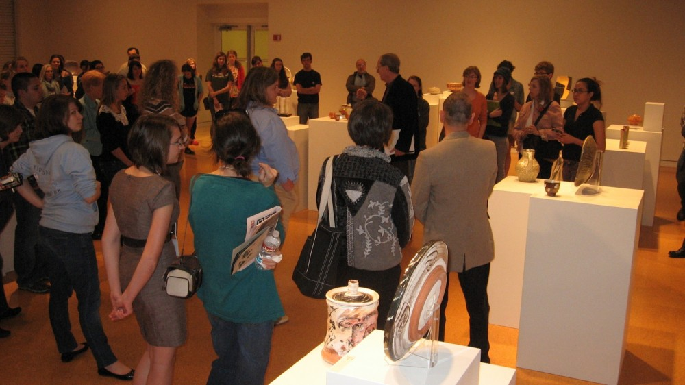 Gallery opening reception for ceramic exhibit