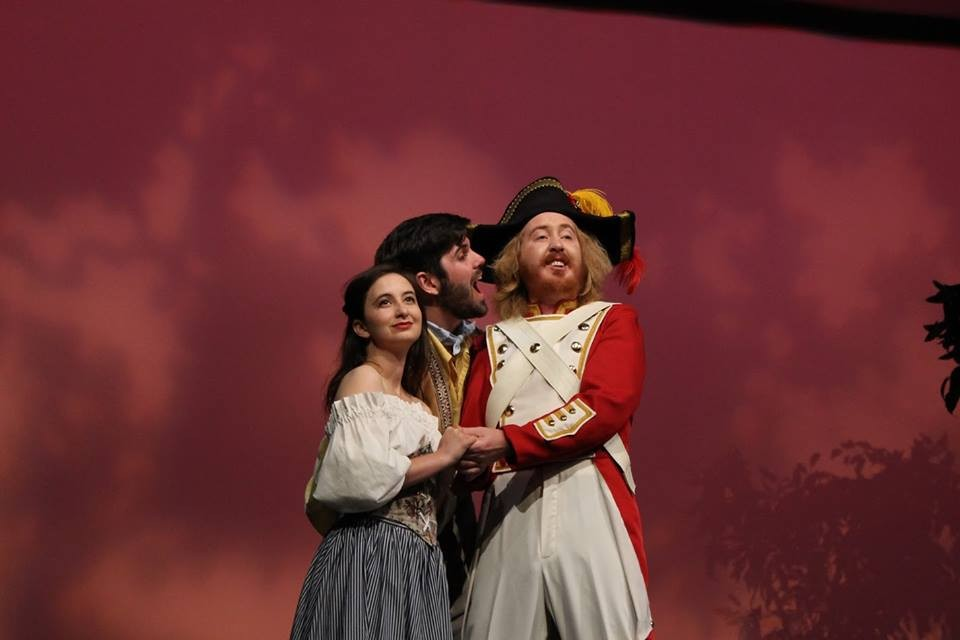 2016's Elixir of Love; Featuring Kelsey Debner '16 and Kevin Bryant '16. Photo Credit, Kati DeHaven