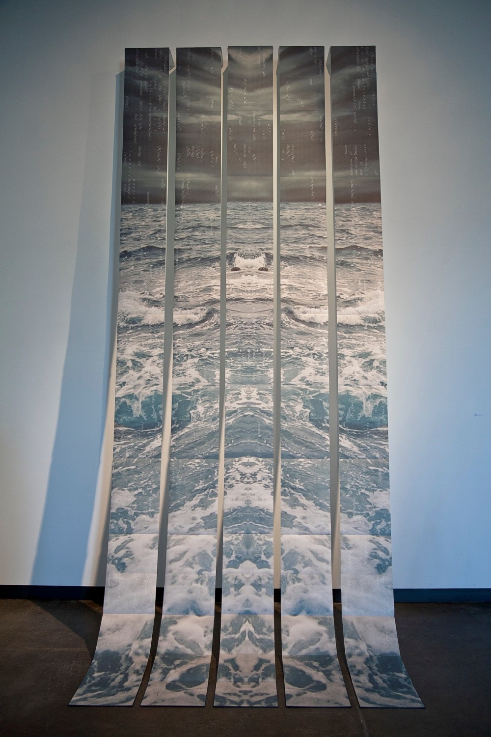 Nicole Pietrantoni, Precipitous, 14 feet x 6 feet, Inkjet on Awagami Inbe Thick, folded and bound into...