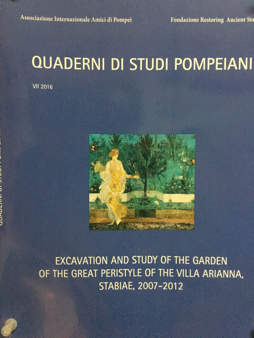 The Excavation and Study of the Garden of the Great Peristyle of the Villa Arianna at Stabia (Quaderni di Studi Pompeiana,...