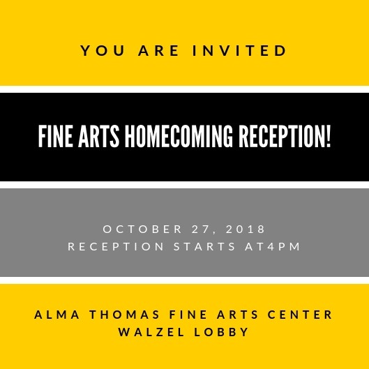 Fine Arts Homecoming Reception
