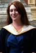 Erin McHugh '09 in front of Royal Albert Hall in London, receiving Master of Music degree from the Royal College of Music.
