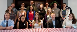 Nineteen alumni offered career advice to students at the 15th annual Career Connections BBQ on April 11, 2014.