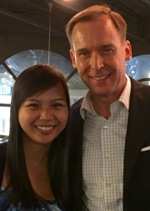 Phuong-Hieu Nguyen '14 and Marlin Brown '89