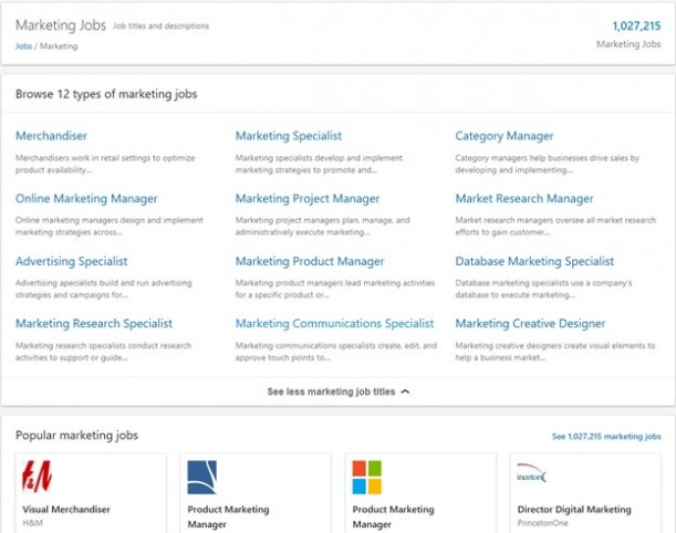 LinkedIn job search example screenshot