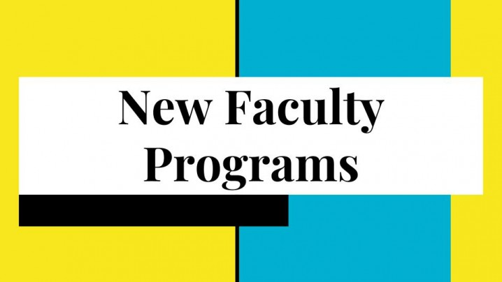 New Faculty Programs
