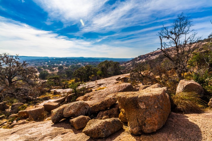 The Amazing Granite Stone Slabs and Boulders of Legendary Enchanted Rock, a Small Dome Mountain, ...