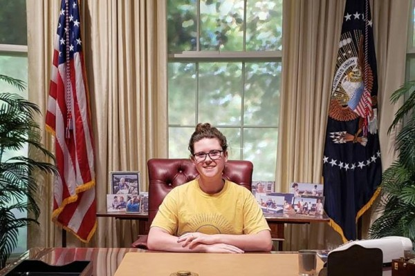 Photo taken at the Bush Presidential Library during Public Service Institute Weekend during Kellogg's  time as a Bush School Fellow.