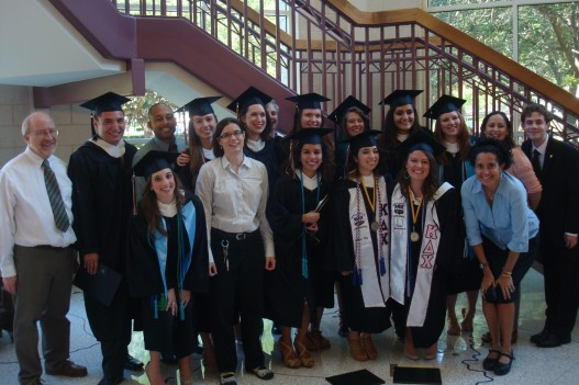Members of the Sociology and Anthropology Department's graduating class of 2013, faculty, and an alum. Note:  not all graduating seniors are in this photo.