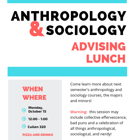 Anthropology & Sociology Advising Lunch