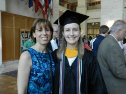 Dr. Cuevas with Honors Biology Graduate Jenna Gaska