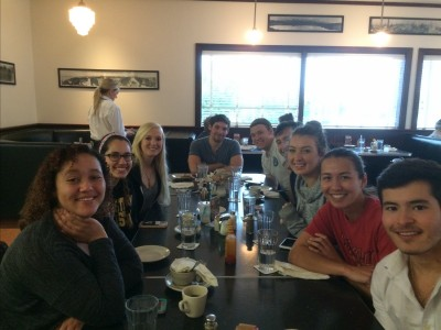 Celebrating Successful Capstone with Monument Breakfast