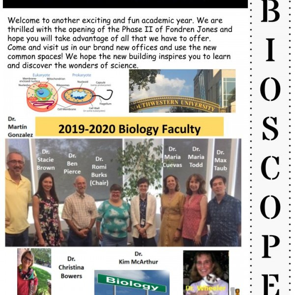 Front page of the Fall 2019 BioScope Issue
