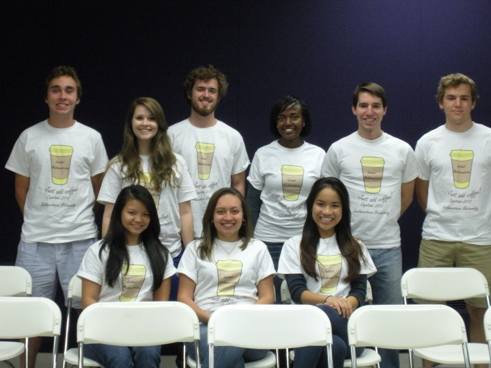 2012 Math Capstone students wearing their capstone tshirts