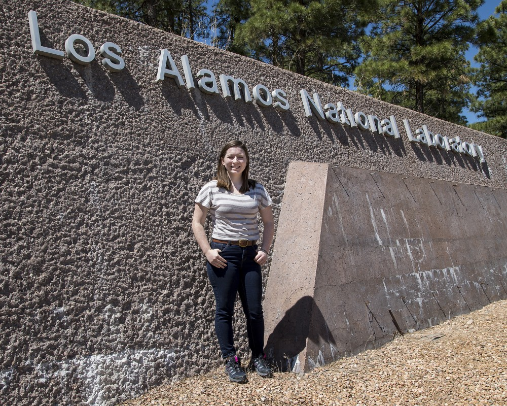 Lauren Gillespie at the Los Alamos National Laboratory (LANL) in New Mexico
