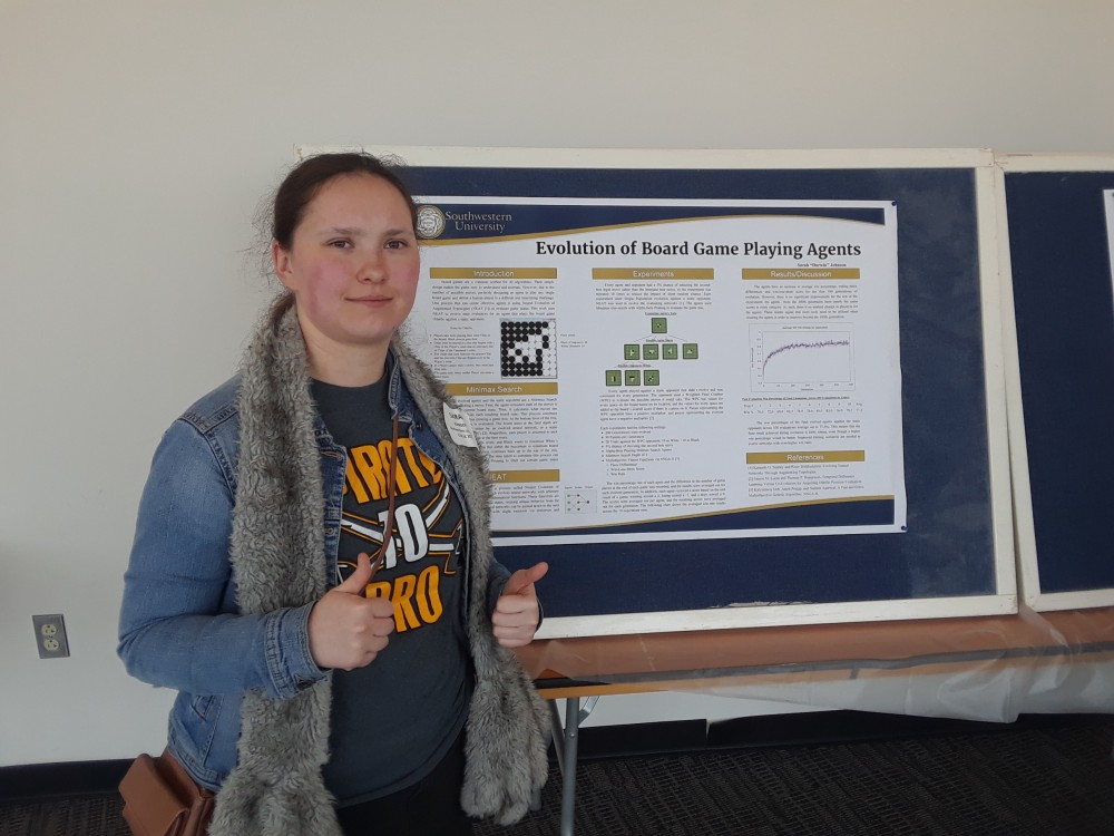 "Sarah ""Darwin"" Johnson presents her SCOPE summer research at CCSC. This research was supervised by Dr. Jacob Sch..."