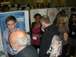 Yvette explains her research at the JMM undergraduate poster session