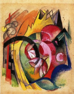 Franz Marc, Colored Flowers