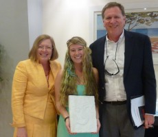 Emily McWilliams with Profs. Haskell, at College Year in Athens