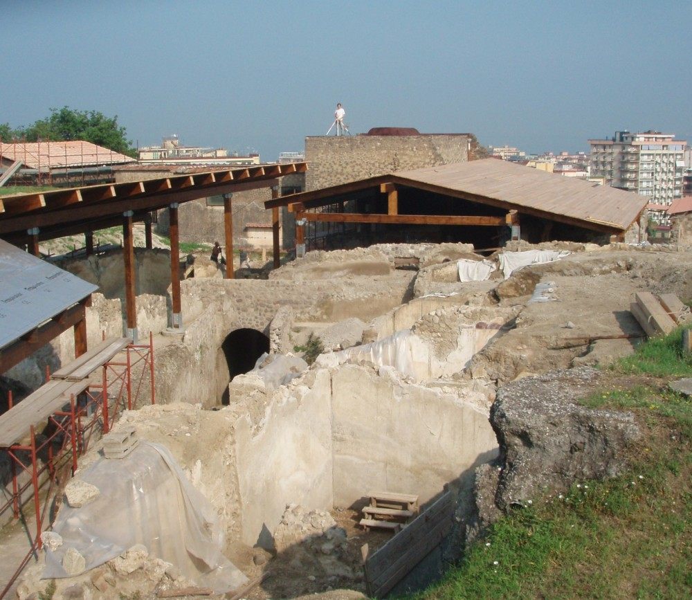 The Villa Arianna is one of three massive villas that have been excavated so far at Stabiae.