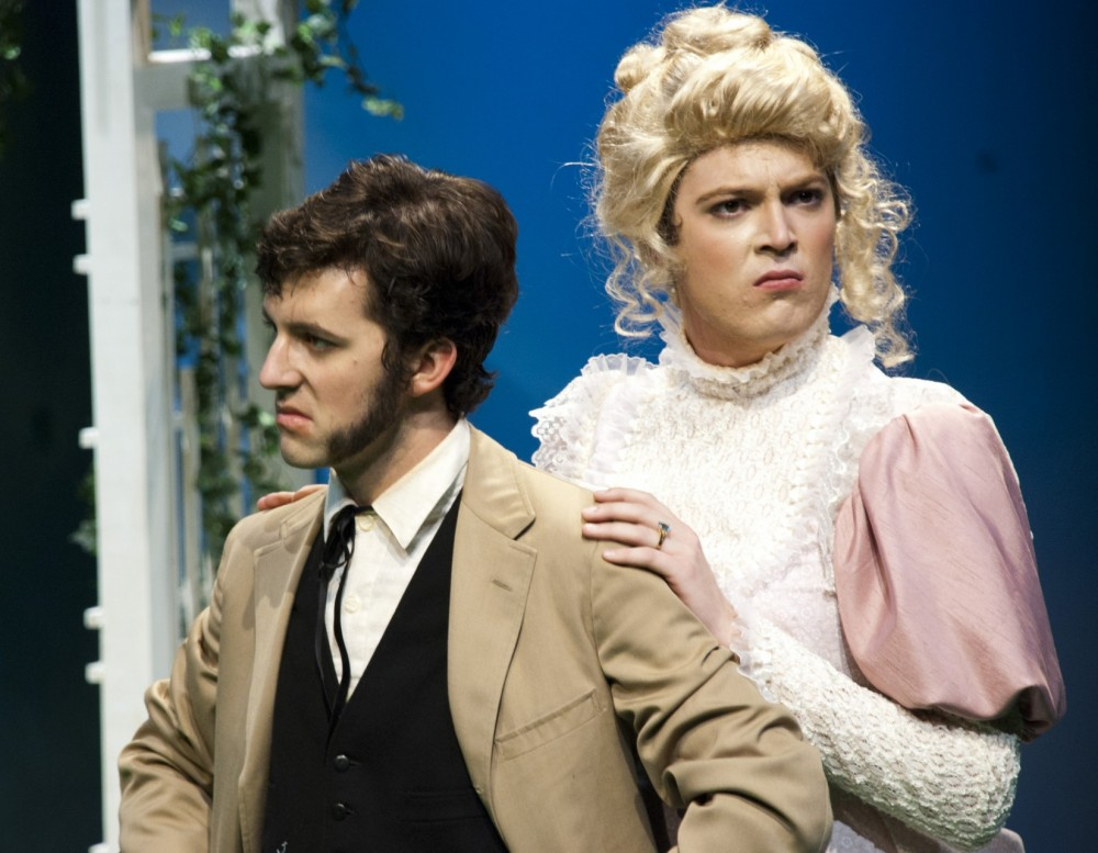 Robert Frost (above, left) has played a role in 15 productions during his four years at Southwestern. In the fall 2011 pro...