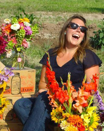 2007 graduate Emily Calhoun has started a floral farm in southern New Mexico.