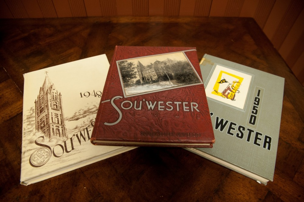 Back issues of old South'wester yearbooks such as these can now be found online.