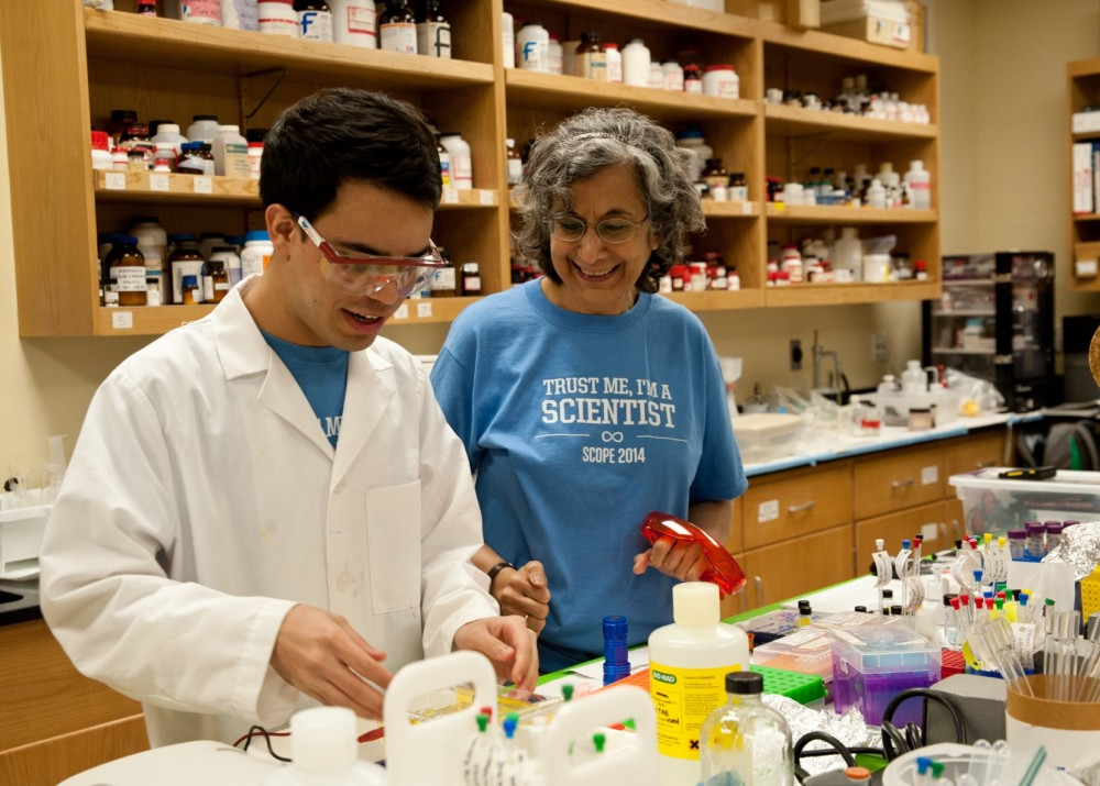 Senior Antonio Lopez has conducted research with chemistry professor Gulnar Rawji ever since his first year at Southwestern.