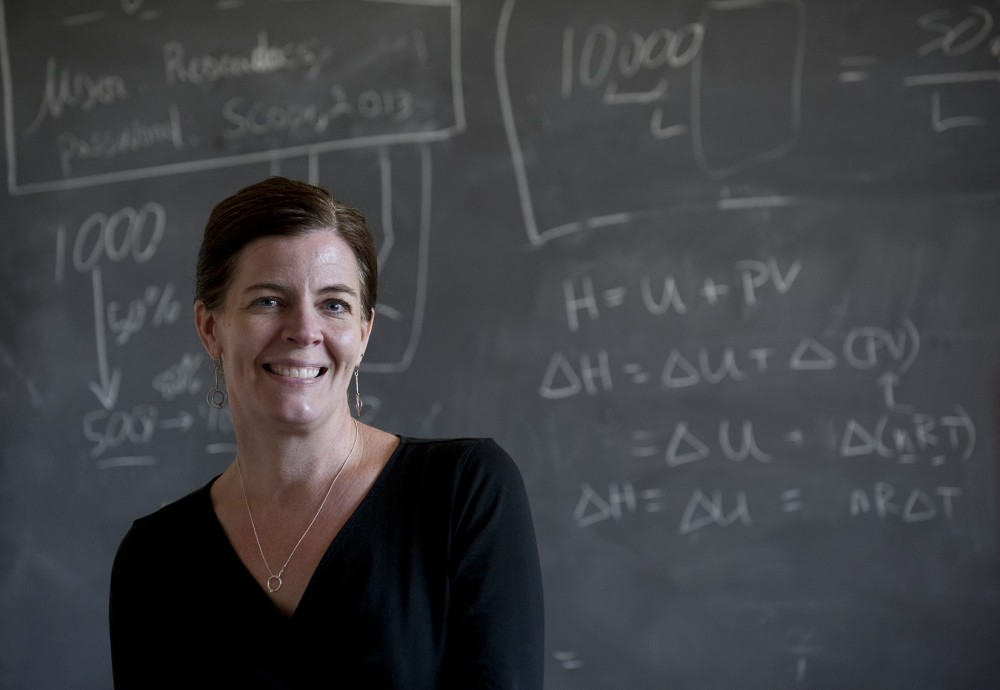 Chemistry professor Emily Niemeyer is among the faculty members who have been adopting a new teaching technique known as t...