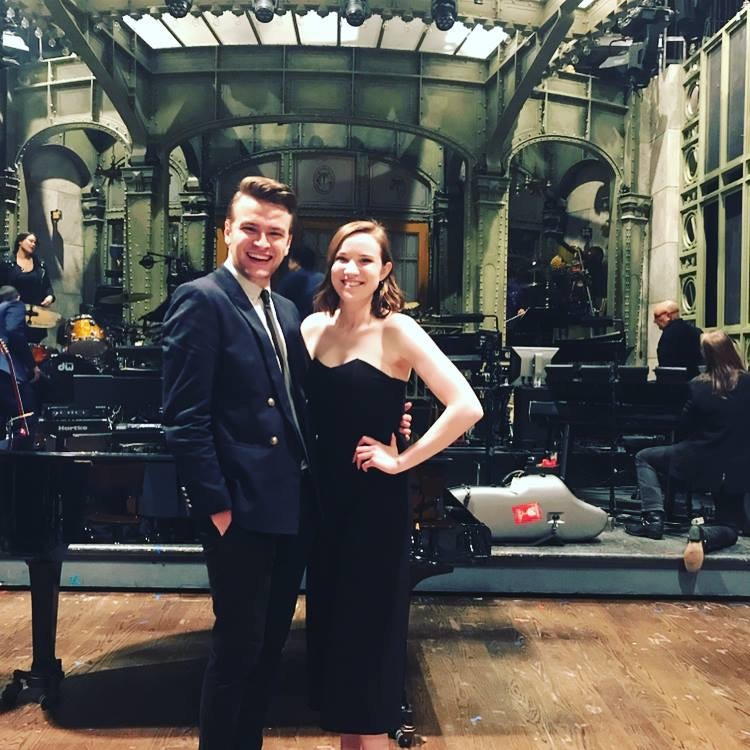 Hailee Williams '17 poses on the SNL set