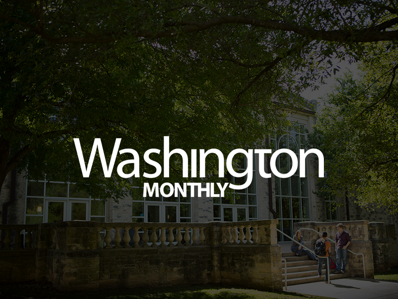 "SU is recognized for ""contribution to the public good"" by current students and alumni by Washington Monthly."