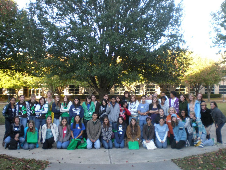 Participants in the 2nd annual environmental summit for high school students pose for a group photo at the end of the day.