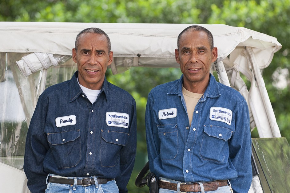 Twins Randy and Robert Diaz are carrying on a family tradition by working at Southwestern (Photo by Carlos Barron).