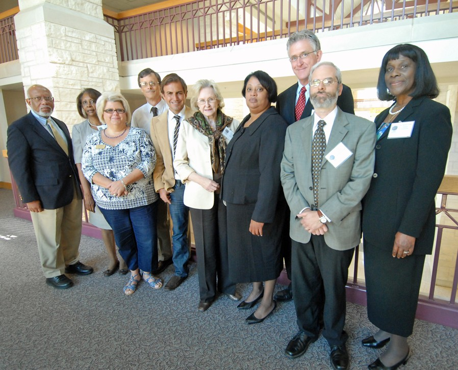 Participants in the Engaged Diversity Symposium stand with members of the Engaged Diversity Project Steering Committee.