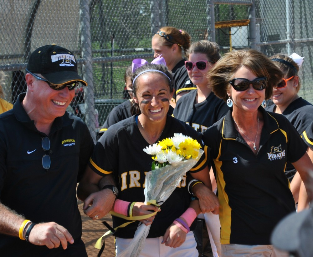 Taylor Turpin was one of the first graduating seniors on the softball team. (Photo by Karlis Dunens)