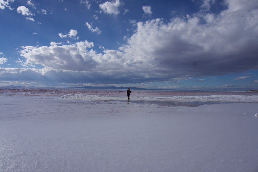 Wandering the north edge of the Great Salt Lake.