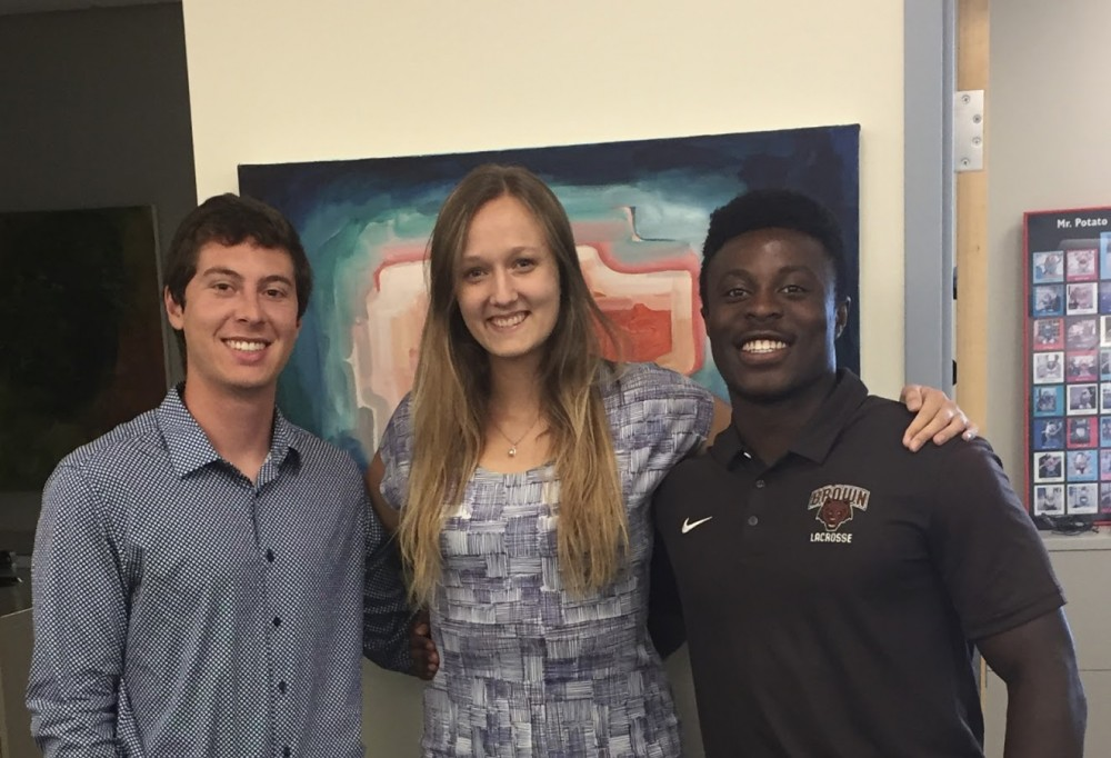 Jared with other Brown University interns Adrian Enchill and Erika Steeves.