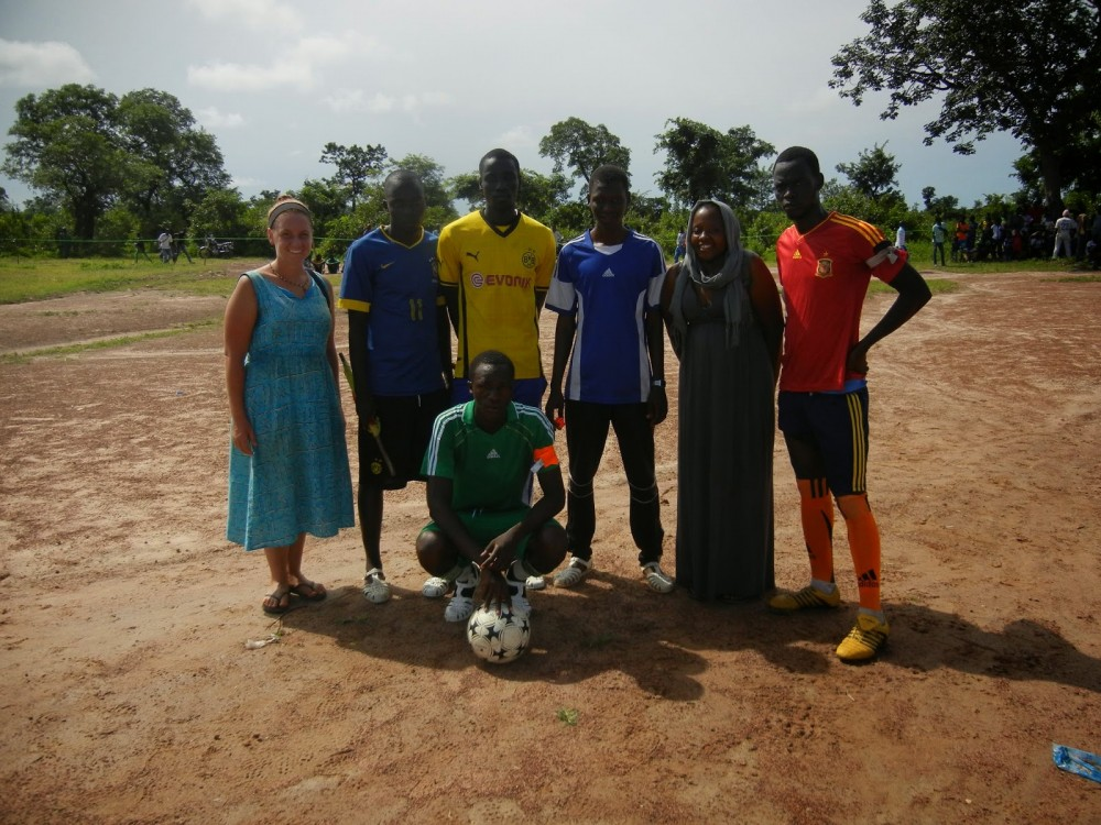One of Magassa's favorite projects was planning soccer tournament for men who were only allowe...