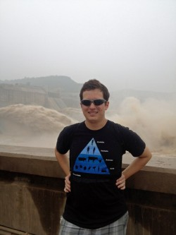 Clayton Tucker stands near a water reservoir near Luoang, China. Tucker spent four weeks in China this summer as part of a...