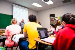 Southwestern University sociology professor Ed Kain is an expert on the teaching of sociology. Kain is shown here teaching...