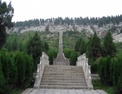 Entrance ramp to the Jiulongshan Tombs near Qufu, Shandong Province. (Photo courtesy of Allison Miller)